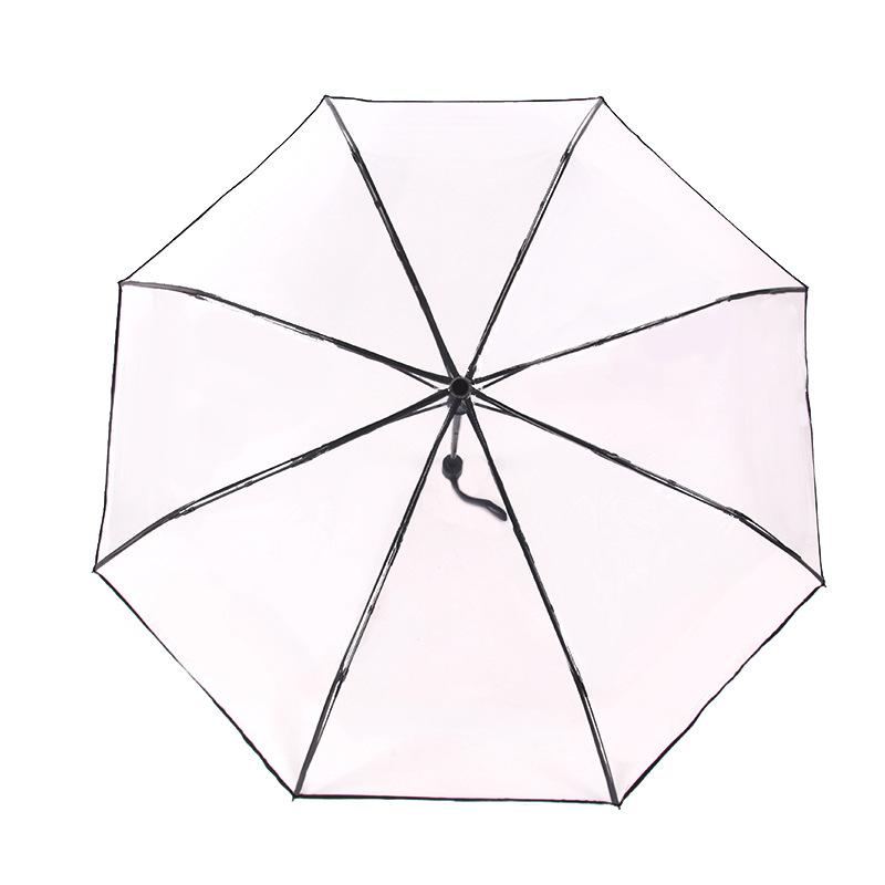 folding transparent umbrella