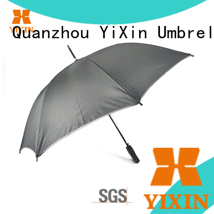 YiXin new black umbrella curved handle suppliers for outdoor