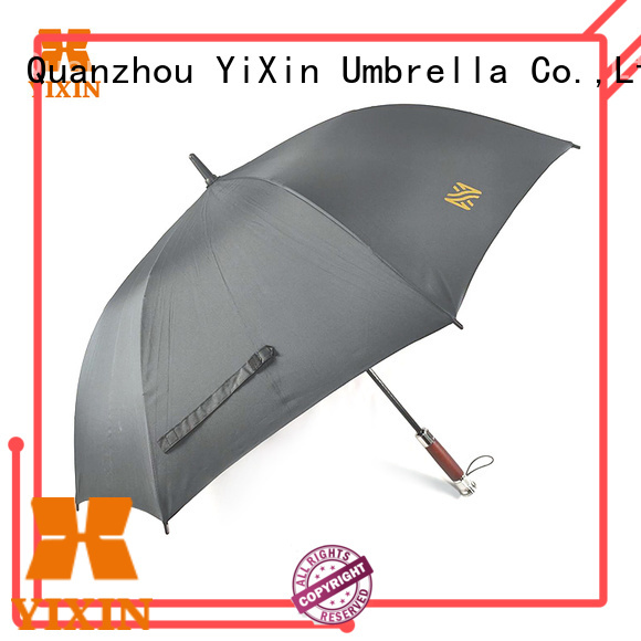 YiXin square black and white golf umbrella suppliers for outdoor