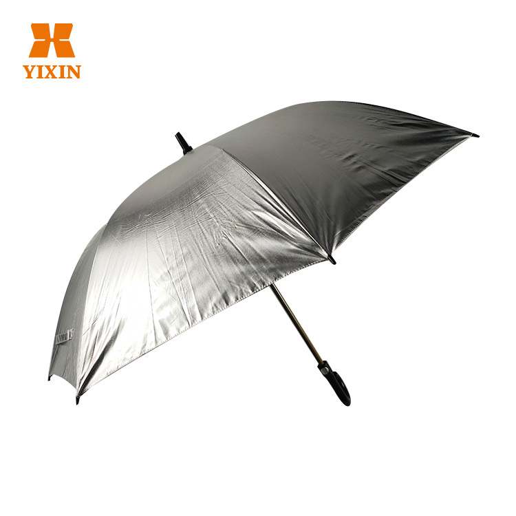 23 Inch 8k All Fiber Reflective Straight Wind Resistant Umbrella