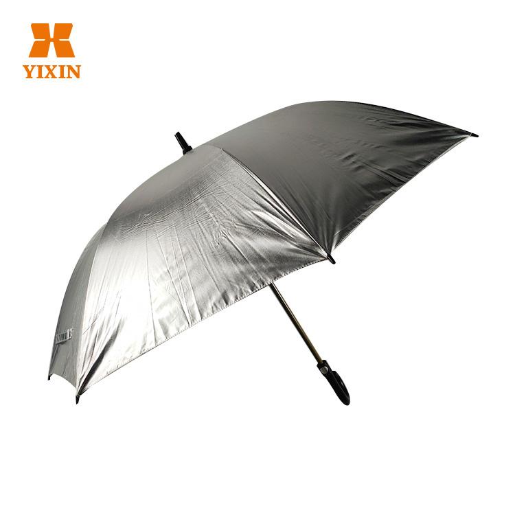 23 Inch 8k All Fiber Reflective Straight Wind Resistant Umbrella