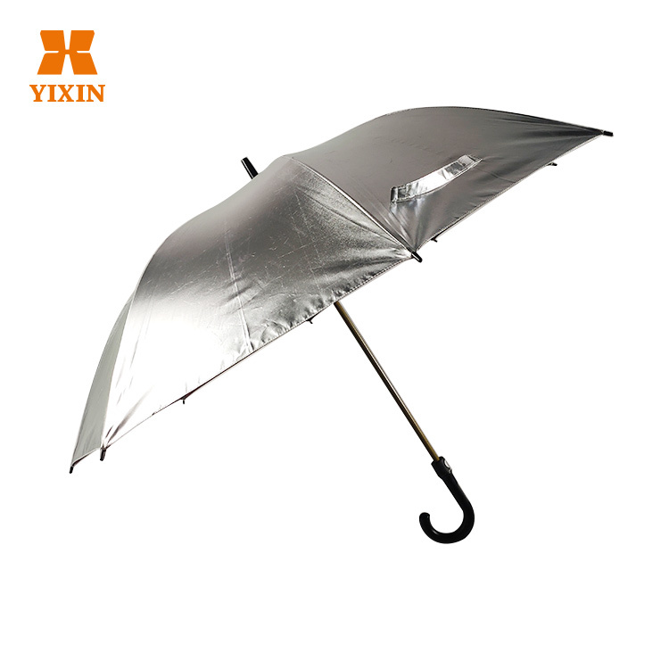 23 Inch 8k All Fiber Creative Golf Umbrella Reflective Straight Umbrella