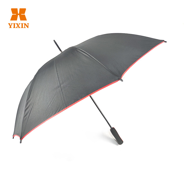 23 Inch 8k Automatic Open Customized Red Umbrella With Ads Logo Printing