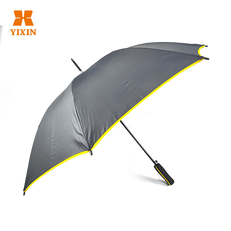 23 Inch 8k Automatic Open Customized Yellow Quality Umbrella With Ads Logo Printing