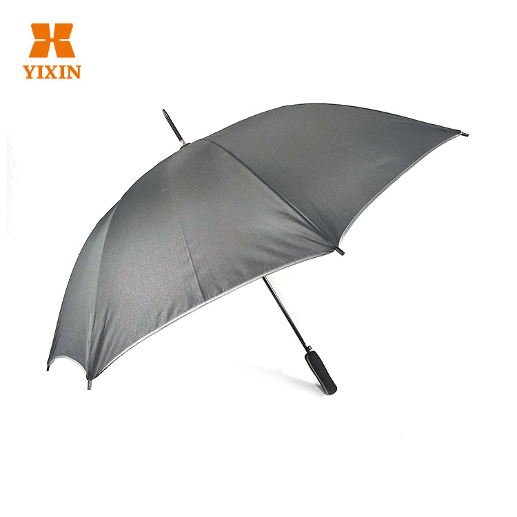 23 Inch 8k Automatic Open Customized Gray Umbrella With Ads Logo Printing
