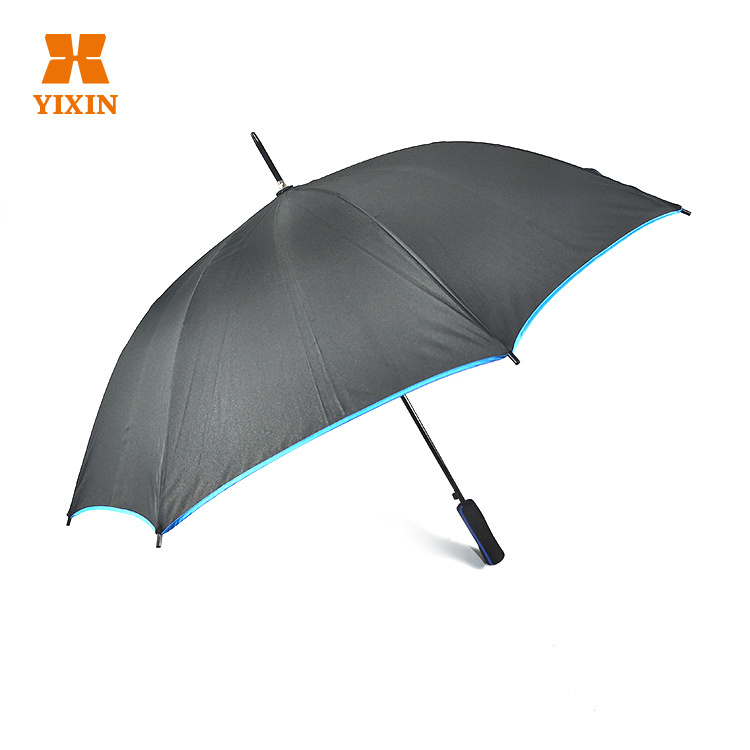 23 Inch 8k Automatic Open Customized Sky blue Umbrella With Ads Logo Printing
