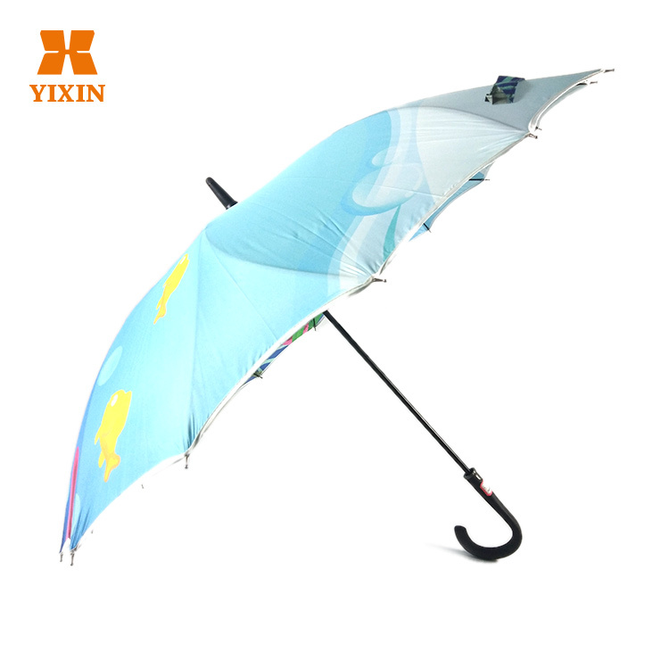 Custom Umbrellas No Minimum 23 Inch 8k Automatic Open Customized Umbrella With Ads Logo Printing