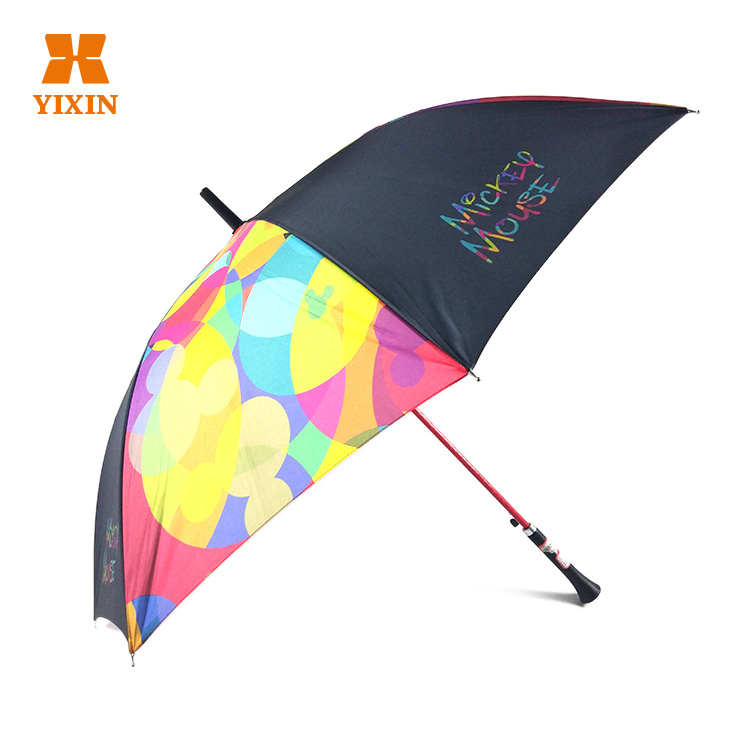 Luxury Golf Umbrella 2019 Advertising Design Logo Promotional 190t Pongee 23 Inch 8k Straight Golf Windproof Umbrella