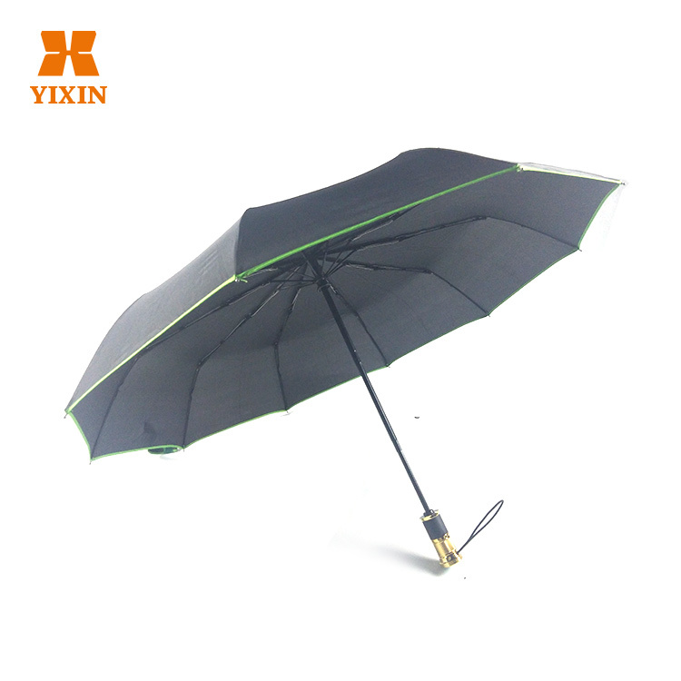 2019 Wholesale Manufacturer Price 23 Inches 3 Fold Travel Rubber Treatment And Anti-UV Umbrella Car Umbrella Folding