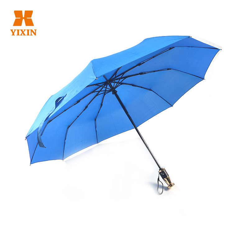 Customized Business 23 Inch 10 Automatic Umbrella Opening And Closing 3 Gift Folding mechanism umbrella folding