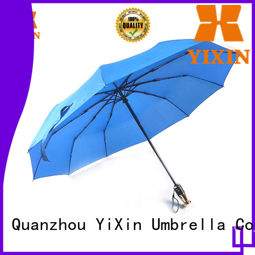 YiXin soft yellow folding umbrella supply for outdoor