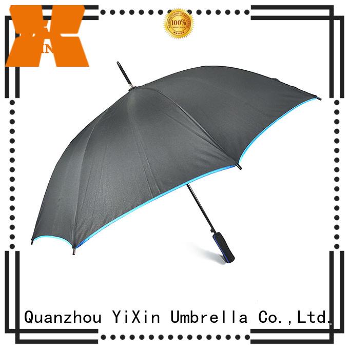 YiXin customized black hook umbrella for women