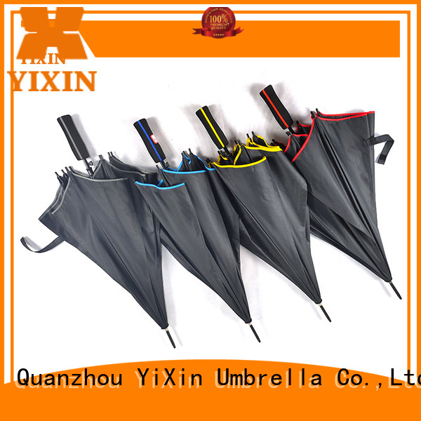 YiXin printing black umbrella curved handle suppliers for men