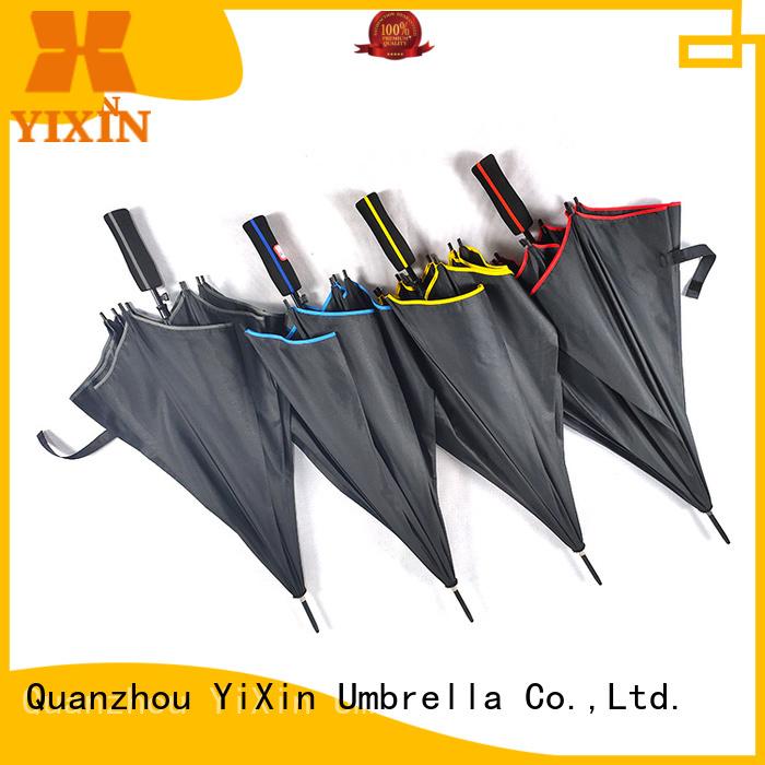 YiXin latest leather handle umbrella for men