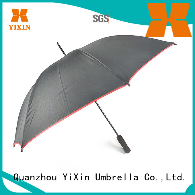 YiXin latest black long handle umbrella factory for kids