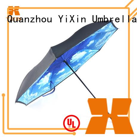YiXin umbrella reverse umbrella c handle suppliers for outdoor