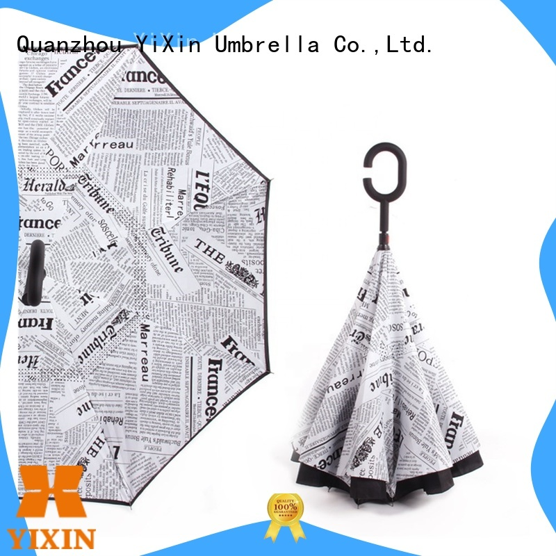 YiXin straight windproof rain umbrella factory for men