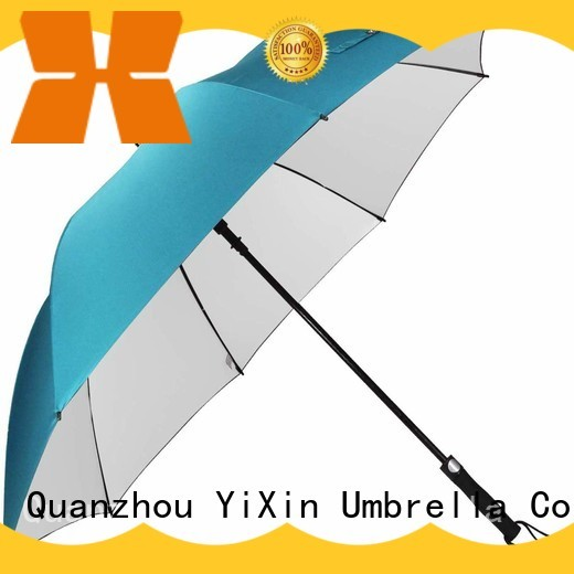 YiXin automatic extra long handle golf umbrella for business for women