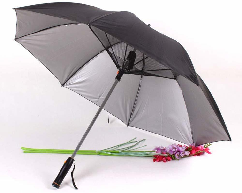 Custom Logo UV Fan Cooling Umbrella With Battery Operated
