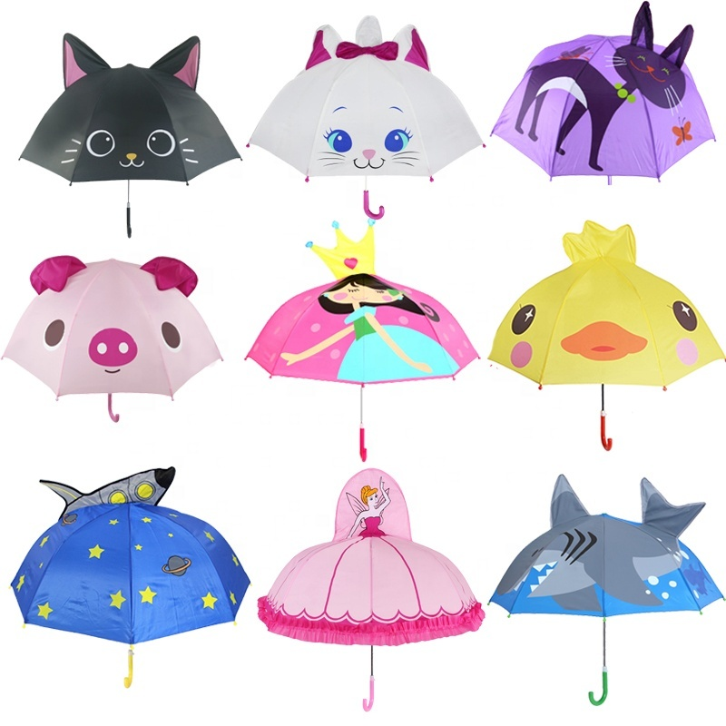 Cartoon Umbrella Children Creative 3d Model Ear Kids Umbrella