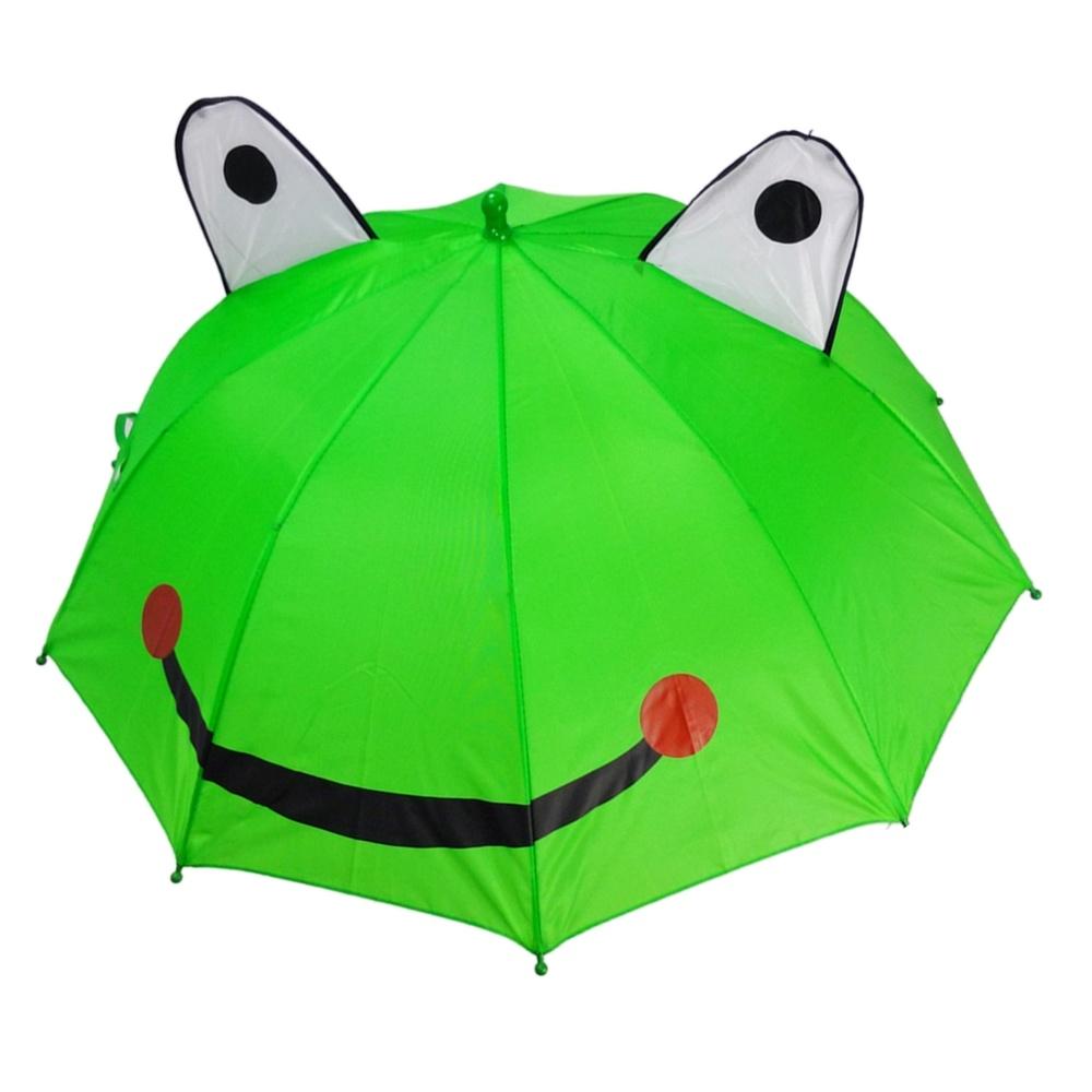 Animal Pattern Children Frog Shaped Cat Ear Umbrella