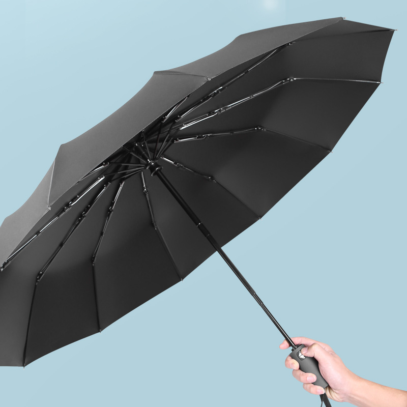 High-value automatic folding sunshade black plastic sunscreen umbrella