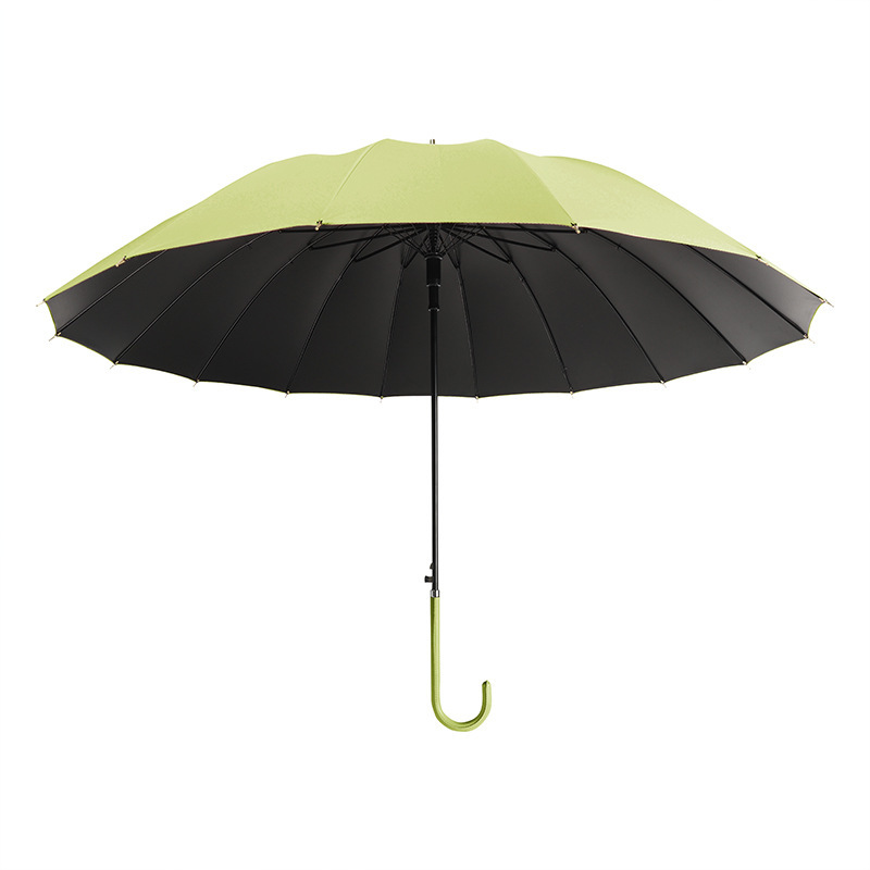 Hot sale 16 bone long handle automatic rain or rain umbrella