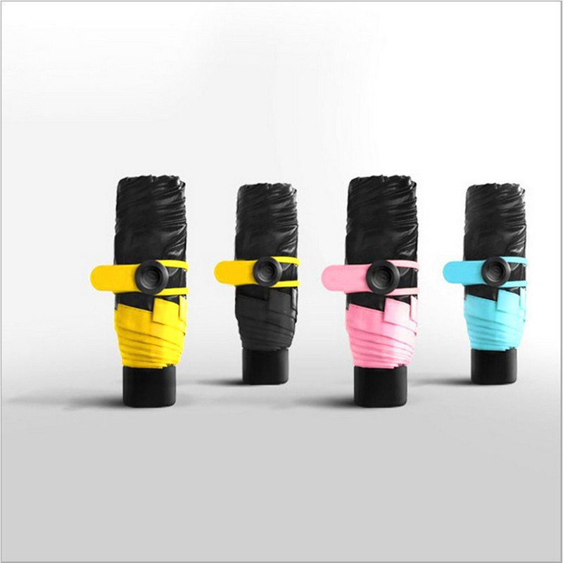 Creative Pocket Mini Sun Protection Vinyl Sun Umbrella Capsule Umbrella