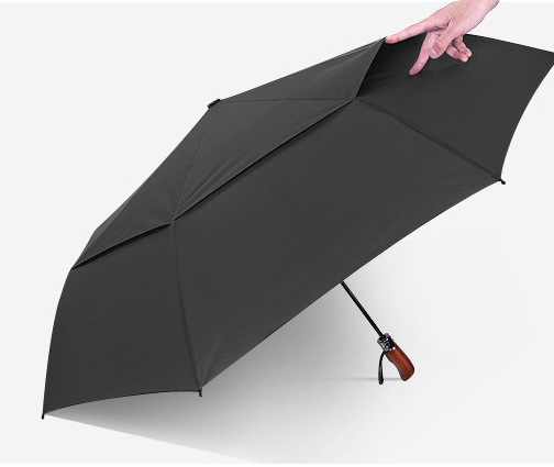 High-quality automatic three-folding umbrella double-layer parasol