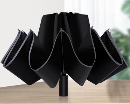 New design strong reflective edge fully automatic folding reverse umbrella