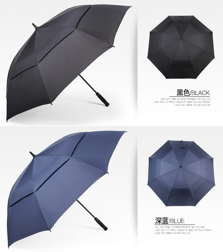 Oversized Men's Long Handle Umbrella Double-layer Windproof Outdoor Golf Umbrella