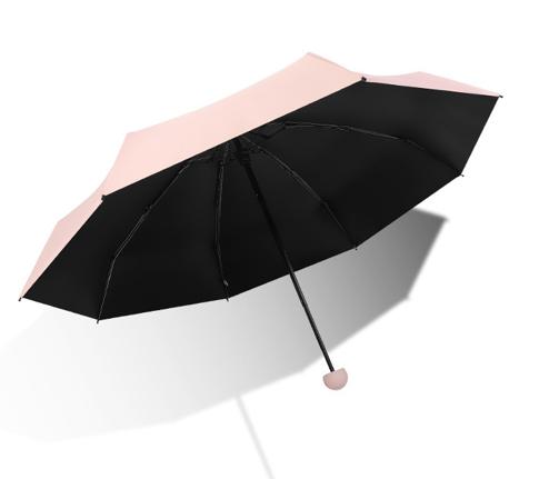 Ultra-light portable sunshade folding capsule five-fold umbrella