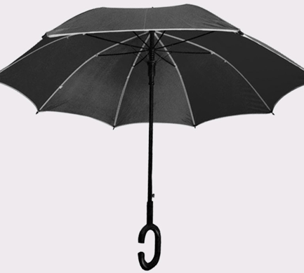 High-quality C-shaped handle-free straight umbrella