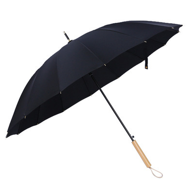 Retro Sunny Rain Two Golf Umbrella Simple 16 Bone Long Handle Umbrella