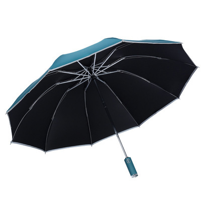 Semi-automatic folding vinyl reverse umbrella sun protection umbrella
