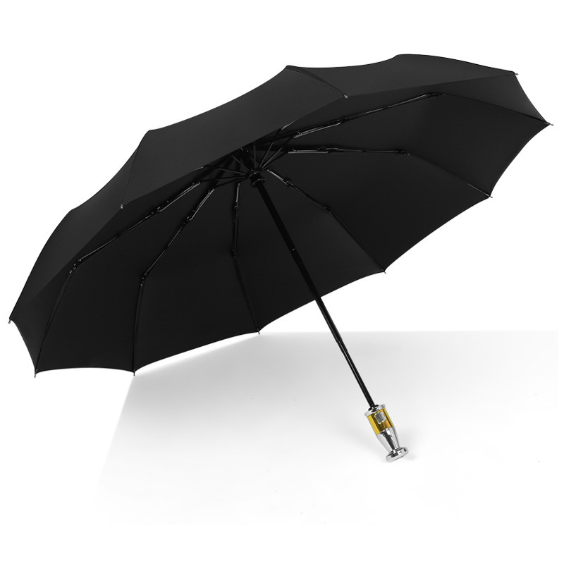 Folding sun protection vinyl umbrella men's business advertising umbrella