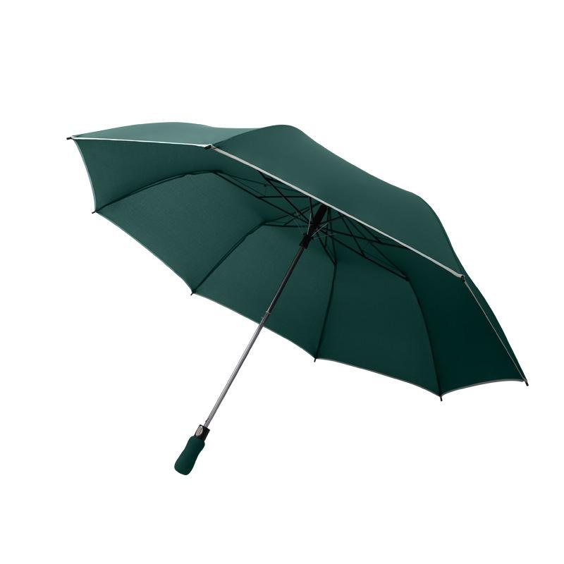 2021 New Double Windproof Umbrella Solid Color Two Folding Golf Umbrella Semi-Automatic Business Umbrella