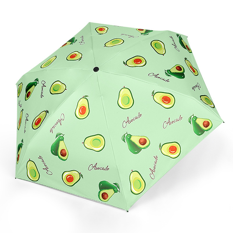 Summer small fresh and Capsule five-fold umbrella