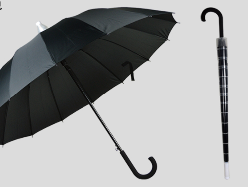 Wind-resistant 16-bone long-handle umbrella telescopic cover does not drip