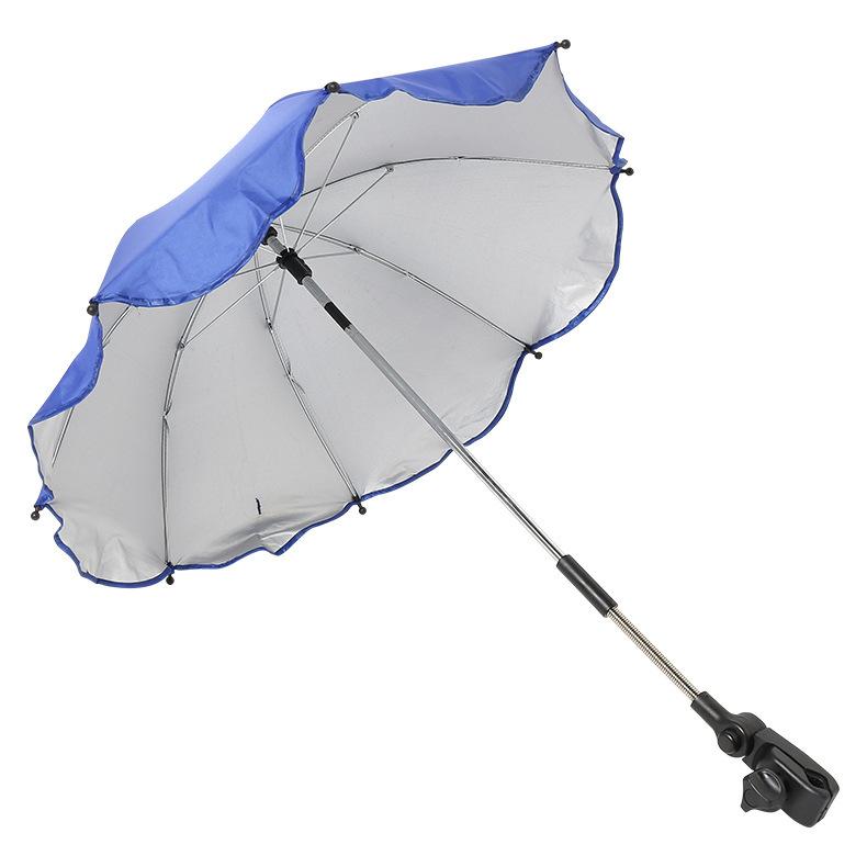 Baby parasol turn to clip stroller umbrella
