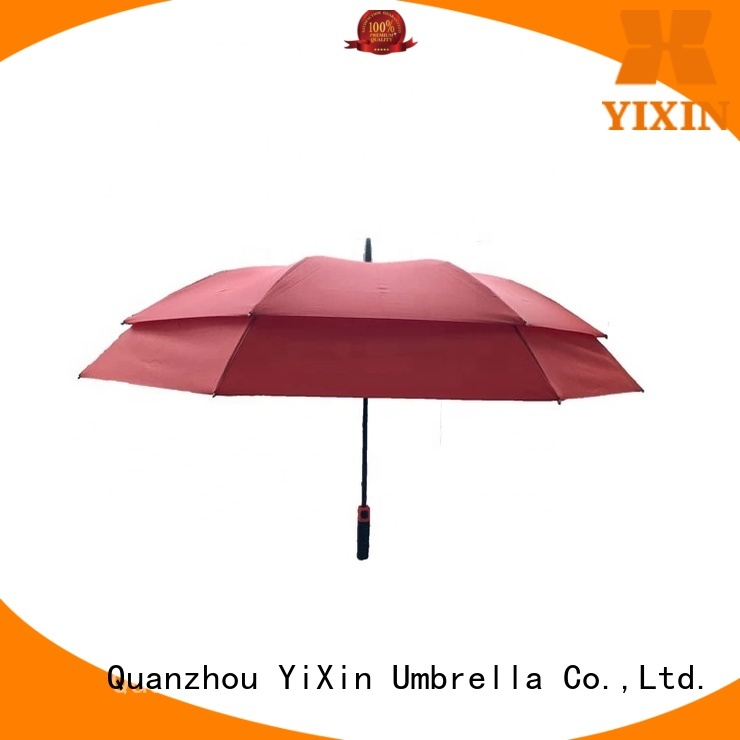 YiXin aluminum purple golf umbrella company for outdoor