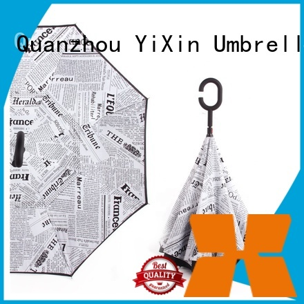 YiXin newspaper inside out umbrella uk suppliers for kids