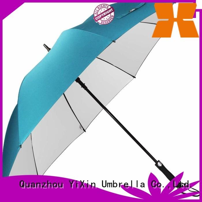 YiXin logo pink golf umbrella callaway for business for men