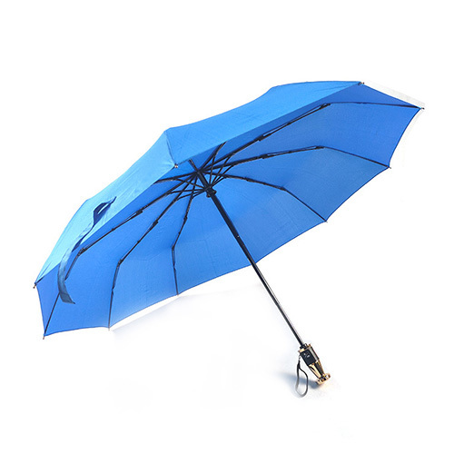 Customized business 23 inch 10 automatic opening and closing 3 gift folding mechanism umbrella folding