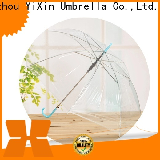 YiXin transparent bell shaped umbrella company for men